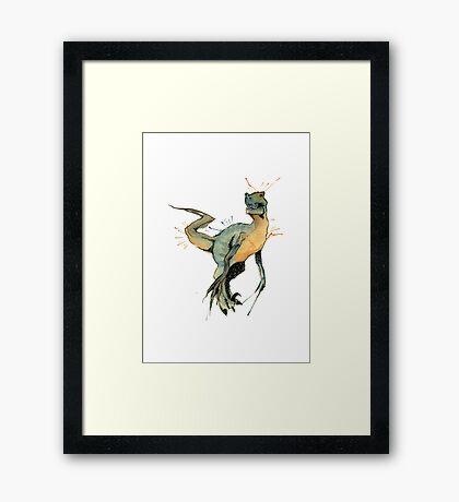 Dinosaur -Velociraptor- Framed Print