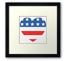 USA Heart Flag Framed Print