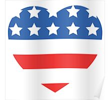 USA Heart Flag Poster
