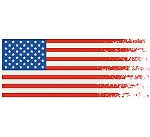 America Graffiti Flag Photographic Print