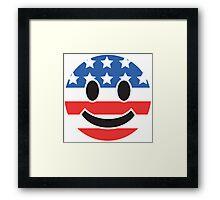 USA Smiley Face Framed Print
