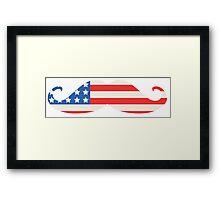 USA Flag Moustache Framed Print