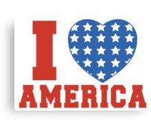 I Heart America Flag Canvas Print