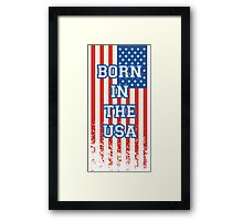 Born In The USA Flag Framed Print