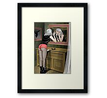 Applying Reflection Framed Print