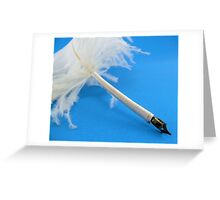 Ostrich quill pen Greeting Card