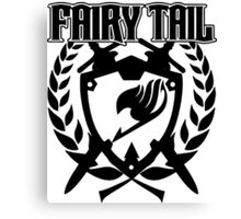 Fairy Tail Emblem (Black) Canvas Print