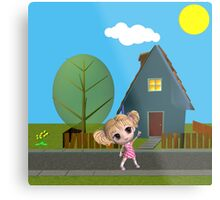 Chibi Girl Metal Print