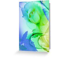 Romantic watercolor roses card Greeting Card
