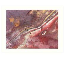 Red Iron Oxide Rock Art Print