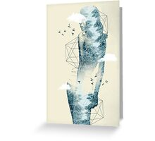 Tree line facet Greeting Card