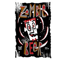 zombie beer label by Marcelo Badari
