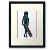 Twi'lek Pinup: Shaayla Framed Print
