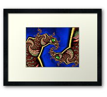 Twin Dragons Forever Framed Print