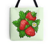 Ripe juicy strawberries Tote Bag