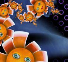 Inner Child - Baby Orange Flowers  Sticker