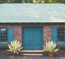 Garden Shed in Teal by Bethany Helzer