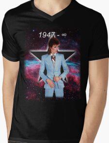 David Bowie Forever (1947 - infinity) Mens V-Neck T-Shirt