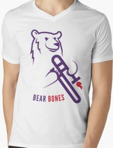 Bear Bones Mens V-Neck T-Shirt