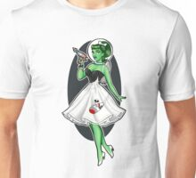 Space Girl Pin up Unisex T-Shirt