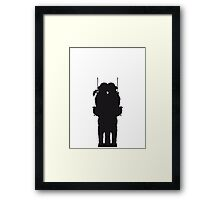 2 soldiers couple love Kiss woman girl man boy Framed Print