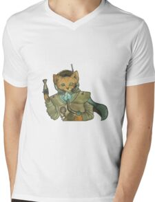 Space Pirate Fox Mens V-Neck T-Shirt