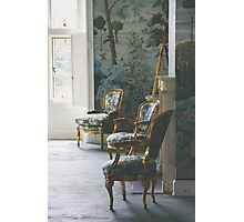 A Well-lit Seating Area Photographic Print