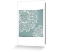 Mandala of Blue Dreams Greeting Card