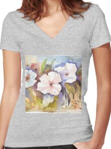 Spring blossoms Women's Fitted V-Neck T-Shirt