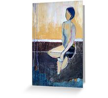 Blue-Haired Girl Greeting Card