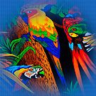 Amazon Parrot Jungle Paradise by Delights