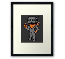 roe pixel art Framed Print