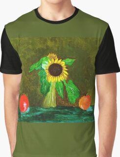 Piet's Sunflower in a Vase Graphic T-Shirt
