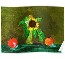 Piet's Sunflower in a Vase Poster