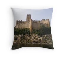 Rock Castle Throw Pillow