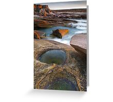 Last Rays and Rock Pools Greeting Card