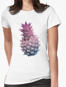 Pink Purple and Blue Pineapple Womens Fitted T-Shirt