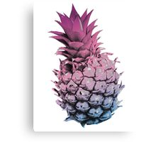 Pink Purple and Blue Pineapple Canvas Print