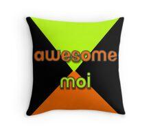 Awesome Moi Throw Pillow
