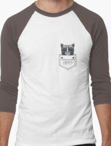 Happy pocket cat Men's Baseball ¾ T-Shirt