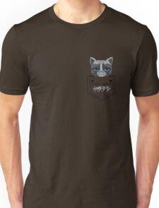 Happy pocket cat Unisex T-Shirt