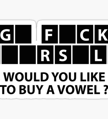 Would You Like To Buy A Vowel? Sticker