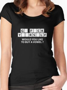 Would You Like To Buy A Vowel? Women's Fitted Scoop T-Shirt
