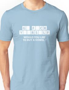 Would You Like To Buy A Vowel? Unisex T-Shirt