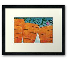 Carrots for Giants Framed Print