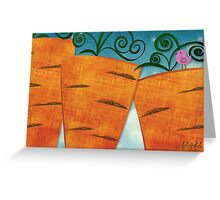 Carrots for Giants Greeting Card