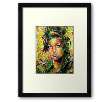 ABSTRACT AMY WINEHOUSE Framed Print