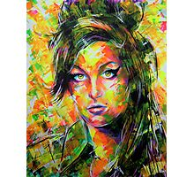 ABSTRACT AMY WINEHOUSE Photographic Print