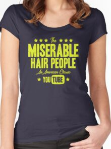 Miserable Hair People | Vintage Women's Fitted Scoop T-Shirt