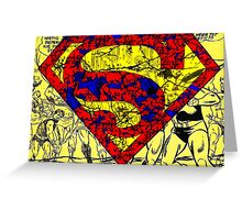 Distressed Superman Greeting Card